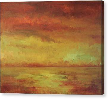 Canvas Print featuring the painting Allegro by Mary Wolf