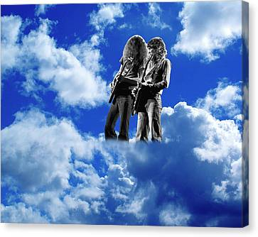 Canvas Print featuring the photograph Allen And Steve In Clouds by Ben Upham