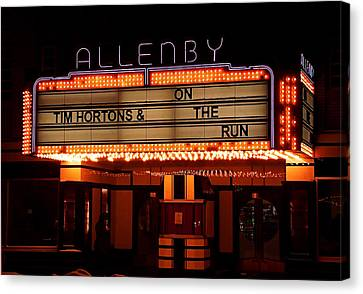 Allenby Theatre 1215 Danforth Canvas Print by Nicky Jameson