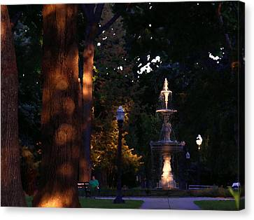 Allentown Pa Dusk At West Park Canvas Print by Jacqueline M Lewis