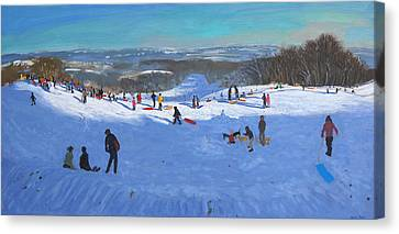 Allestree Park Derby Canvas Print by Andrew Macara