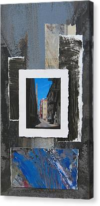 Alley 3rd Ward And Abstract Canvas Print by Anita Burgermeister