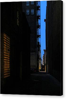 Alley At Night Canvas Print by Anita Burgermeister