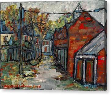 Alley Behind Sydenham Street Canvas Print by David Dossett