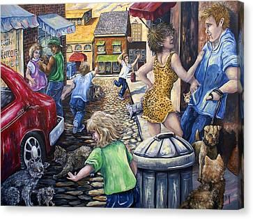 Alley Catz Canvas Print by Gail Butler