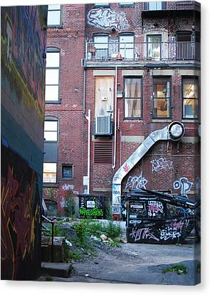 Canvas Print featuring the photograph Alley by Paul Noble