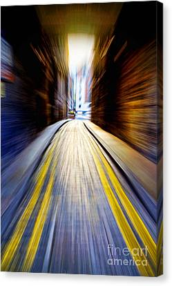 Alleyway With Motion Canvas Print