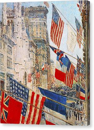 Allies Day May 1917 Canvas Print