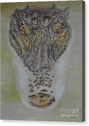 Alligator Canvas Print - Alligator Alert by Nancy Lauby
