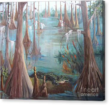 Alligator Bayou Canvas Print