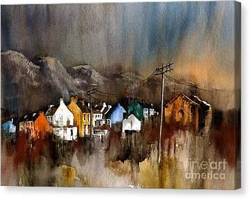 Allihies Dusk  Beara Cork Canvas Print by Val Byrne