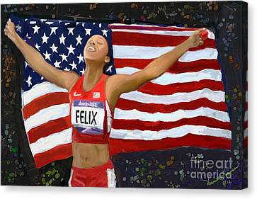 Allison Felix Olympian Gold Metalist Canvas Print