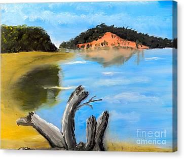 Allonah Beach Tasmania Canvas Print by Pamela  Meredith