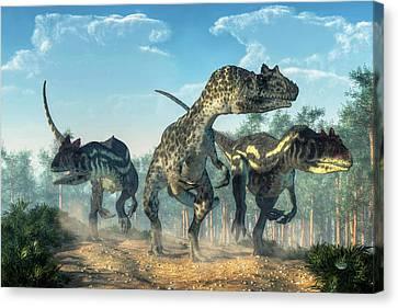 Allosauruses Canvas Print