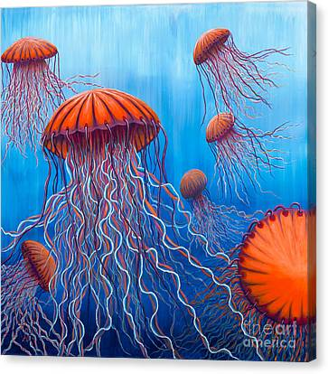 Ally's Orange Jellies Canvas Print by Rebecca Parker
