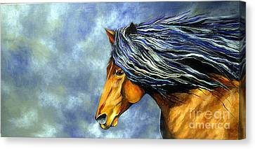 Canvas Print featuring the painting Almanzors Glissando  by Alison Caltrider