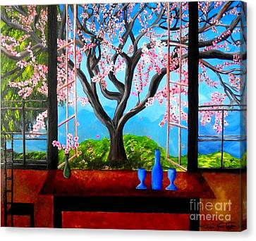 Almond With A View Canvas Print