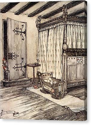 Shakespearean Canvas Print - ..almost Fairy Time, Illustration by Arthur Rackham