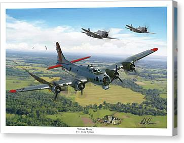 Almost Home  B-17 Flying Fortress Canvas Print by Mark Karvon