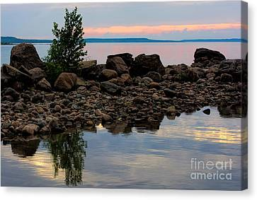 Almost Sunset At Awenda Beach Canvas Print