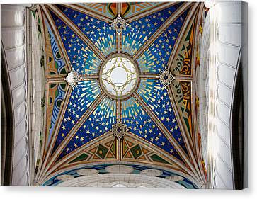 Almudena Cathedral Dome Ceiling Canvas Print by Artur Bogacki