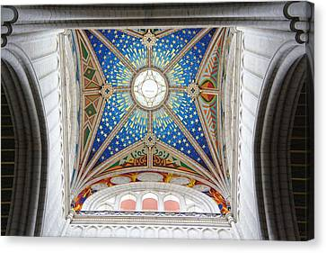 Almudena Cathedral Interior Canvas Print by Jenny Hudson