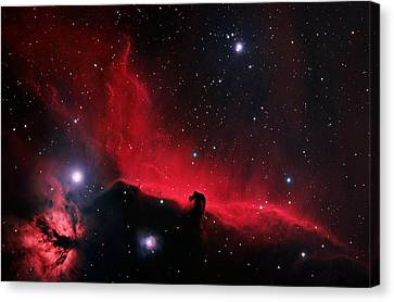 Alnitak Region In Orion Canvas Print by Celestial Images