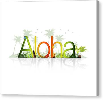 Aloha - Hawaii Canvas Print by Aged Pixel