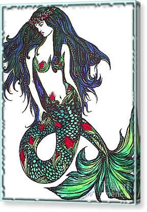 Aloha Mermaid Canvas Print by Valarie Pacheco