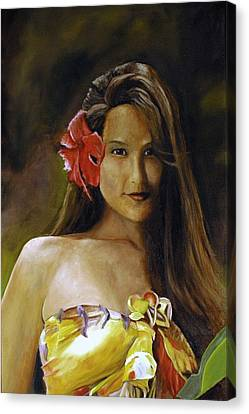 Canvas Print featuring the painting Aloha by Rick Fitzsimons