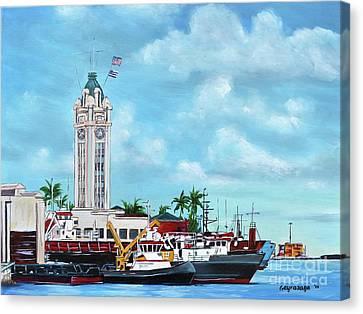 Aloha Tower Canvas Print