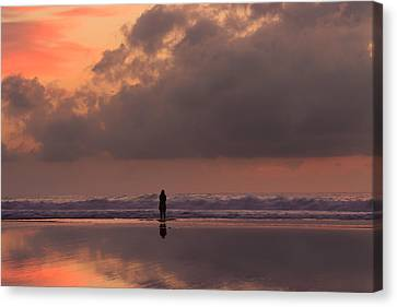 Alone At Sunset I Canvas Print by Marco Oliveira