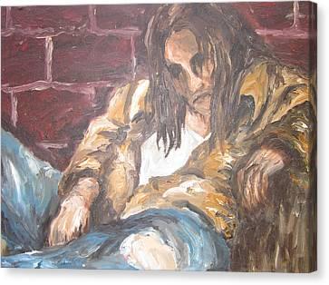 Alone Canvas Print by Cheryl Pettigrew
