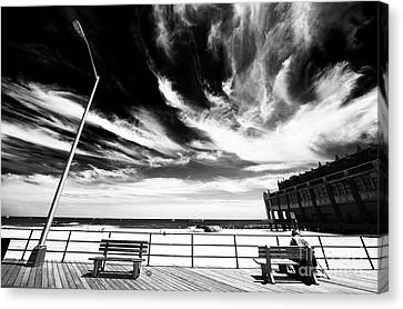 Alone In Asbury Park Canvas Print by John Rizzuto