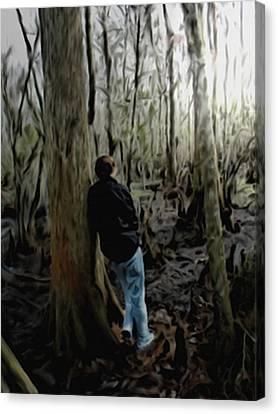 Alone In His Thoughts Canvas Print