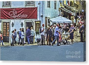 Public Holiday Canvas Print - Alone In The Crowd by GabeZ Art