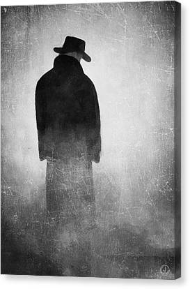 Alone In The Fog 2 Canvas Print by Gun Legler
