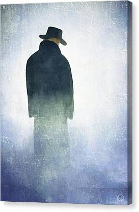 Alone In The Fog Canvas Print by Gun Legler