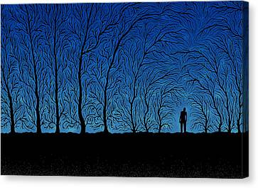 Alone In The Forrest Canvas Print by Gianfranco Weiss