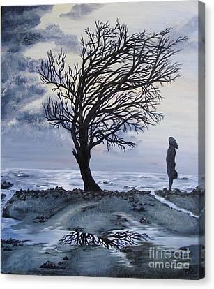 Alone Canvas Print by Lisa Golem