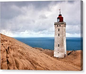 Lighthouse On The Sand Hils Canvas Print