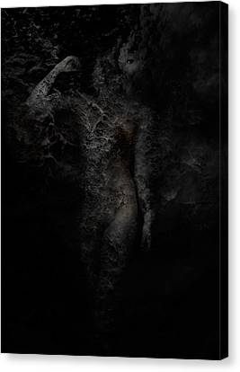 Creepy Canvas Print - Alone With Her Thoughts by David Fox