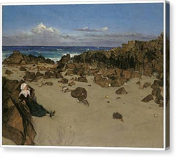 Alone With The Tide Canvas Print by James Abbott McNeill Whistler