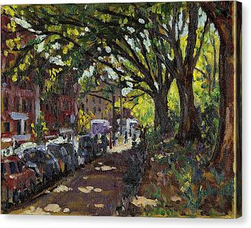 Along Broadway In Inwood New York City Canvas Print by Thor Wickstrom