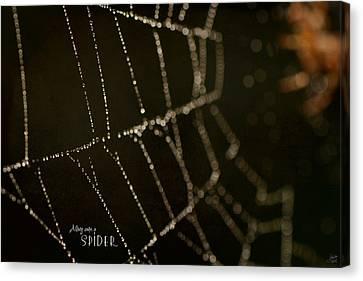 Little Miss Muffet Canvas Print - Along Came A Spider by Lisa Knechtel