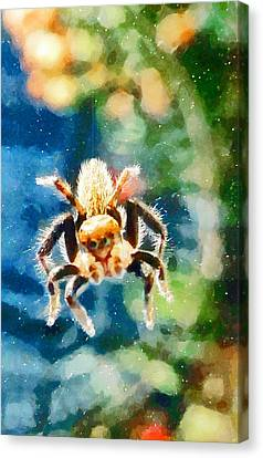Little Miss Muffet Canvas Print - Along Came A Spider by Steve Taylor
