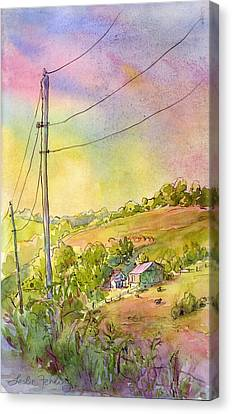 Along Craynes Run Road Canvas Print by Leslie Fehling