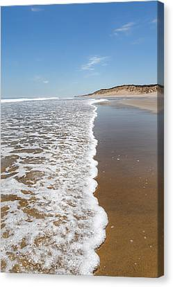 Along The Beach Canvas Print by Bill Wakeley
