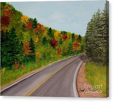 Along The Cabot Trail Canvas Print