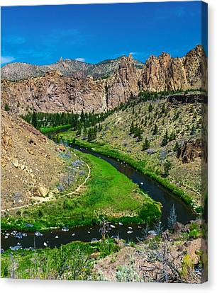 Along The Crooked River Canvas Print by Ryan Manuel